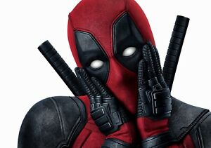 DEADPOOL-Movie-PHOTO-Print-POSTER-Film-Ryan-Reynolds-Marvel-Textless-Art-007