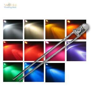 LEDs mit Vorwiderstand extrem hell 5mm in 9 Farben Modellbau Leuchtdioden
