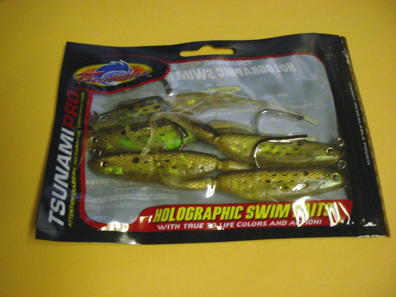 CASE OF 96 TSUNAMI PRO HOLOGRAPHIC SWIM BAITS 5 TROUT MAULER GoldEN BUNKER TM5-4