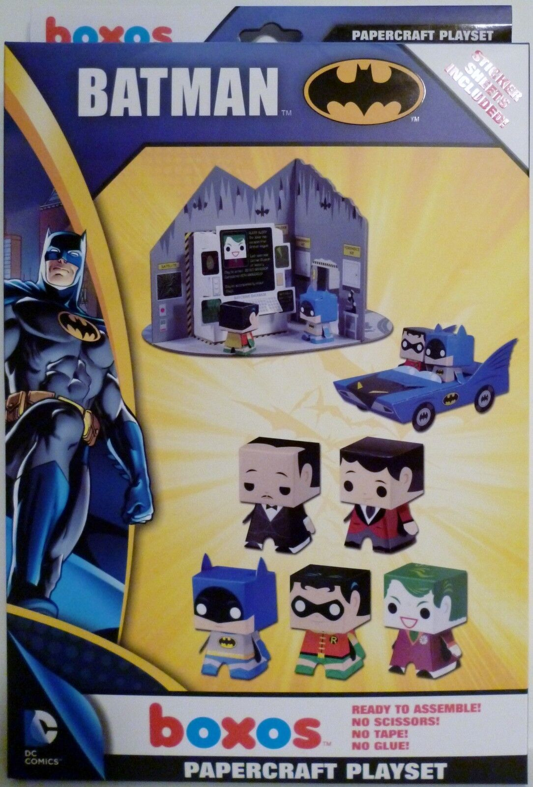 Funko BOXOS Batman papercraft playset Batmobile BATMAN Joker /& more Shop Zwaag