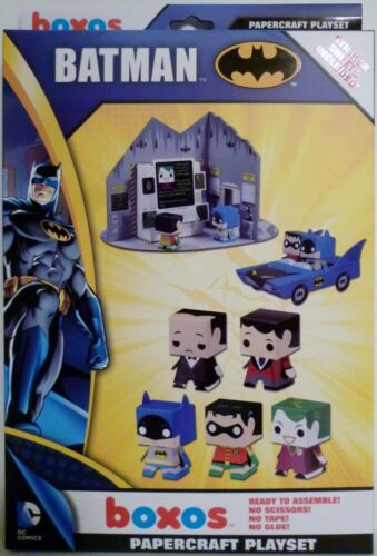 BATMAN DC Comics Boxos Papercraft Activity Playset Funko 2013