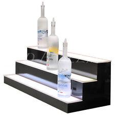 33 Led Lighted Bar Shelves 3 Step Led Liquor Bottle Displ Display Shelving