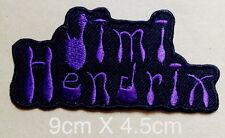 #988 Jimi Hendrix Guitar hero music Rock Metal sew iron on Patch  Embroidered