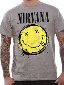 OFFICIAL-Nirvana-T-Shirt-Smiley-Splat-Grunge-Kurt-Cobain-Medium-Large