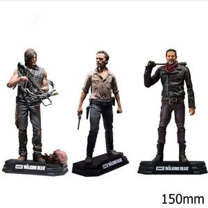 Action Figure TV The Walking Dead Rick Daryl Negan PVC 150mm toys model Boxed