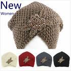 Women's Lady Beret Braided Baggy Beanie Crochet Warm Winter Hat Ski Cap Wool Hat