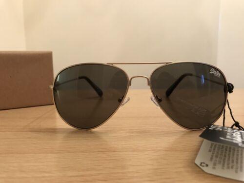 Superdry Huntsman Gafas De Sol-Oro BNWT