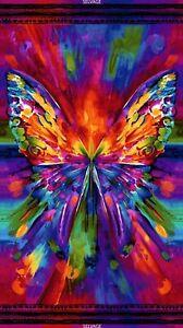Pre-cut-Digitally-Printed-Fabric-Panel-Chong-a-Hwang-Abstract-Butterfly-Awaken