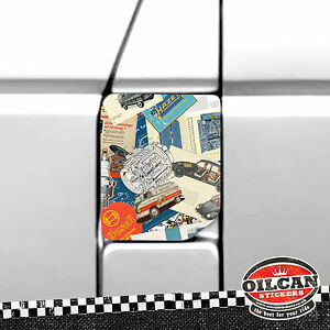 vw-transporter-T4-fuel-flap-wrap-vintage-vw-adverts-stickerbomb-oilcan-original