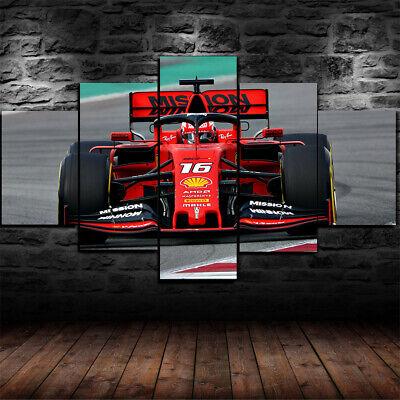 Charles Leclerc Ferrari Premium CANVAS Print FREE USA//CAN SHIPPING