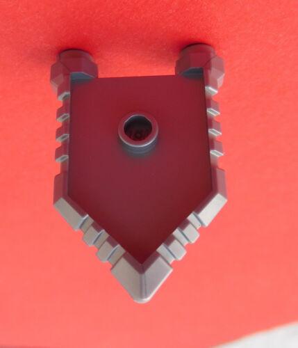 Lego 10 unidades caballero escudo en plata cinco cuadrada escudo 22408 nuevo flat Silver