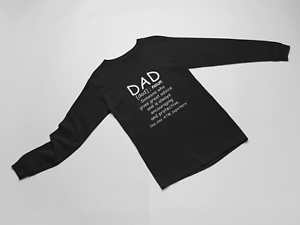 Long-Sleeve-Dad-Definition-Shirt-Funny-Father-039-s-Day-Gift-Grandpa-Fathers-T-Shirt