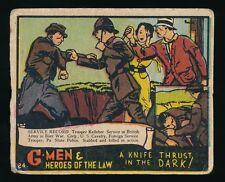 1935 R60 Gum Inc. (No Copyright) G-MEN & HEROES #24 Knife Thrust in Dark