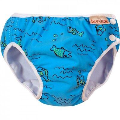 Imse Vimse Türkis Fische Schwimmwindel Blau Badehose Baby Kinder Jungen Neu