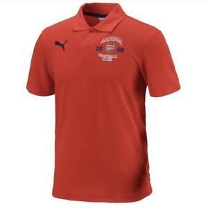Arsenal-FC-Polo-Shirt-Mens-Puma-Red-Cotton-Football-Short-Sleeve-Jersey-2014-15
