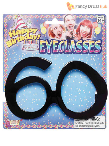 Adults 40th 50th 60th Birthday Glasses Mens Ladies Novelty Fancy Dress Accessory