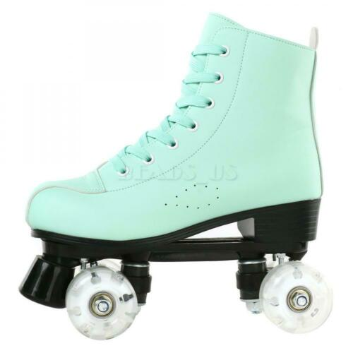 Details about  /Women Girl Roller Skates High-top Four-Wheel Double Row Roller Skate Youth Green