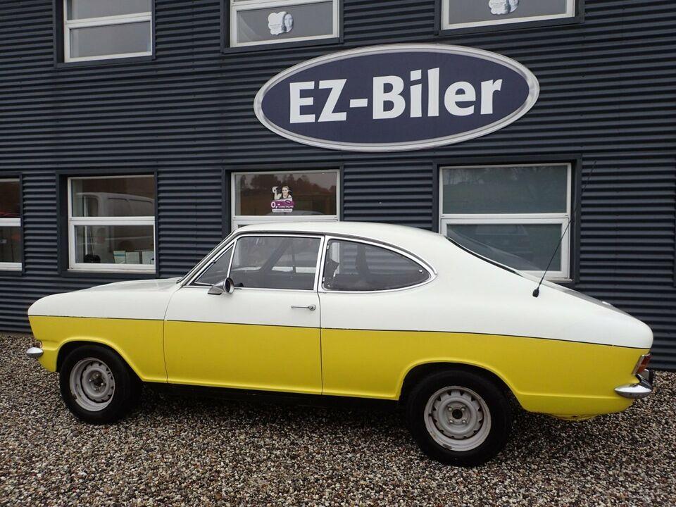 Opel Kadett 1,9 LS Coupé Rallye Benzin modelår 1970 km