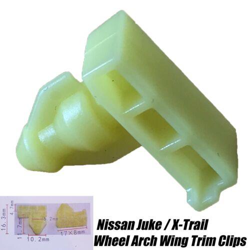 20x Avant Arrière passage de roue aile pare-chocs Surround Trim Clips pour Nissan Juke XTRAIL