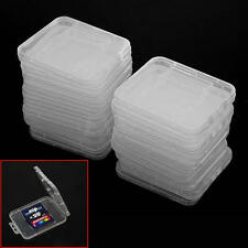 20X Transparente Plástico Caja Estuche para Estándar SD SDHC Tarjeta de Memoria