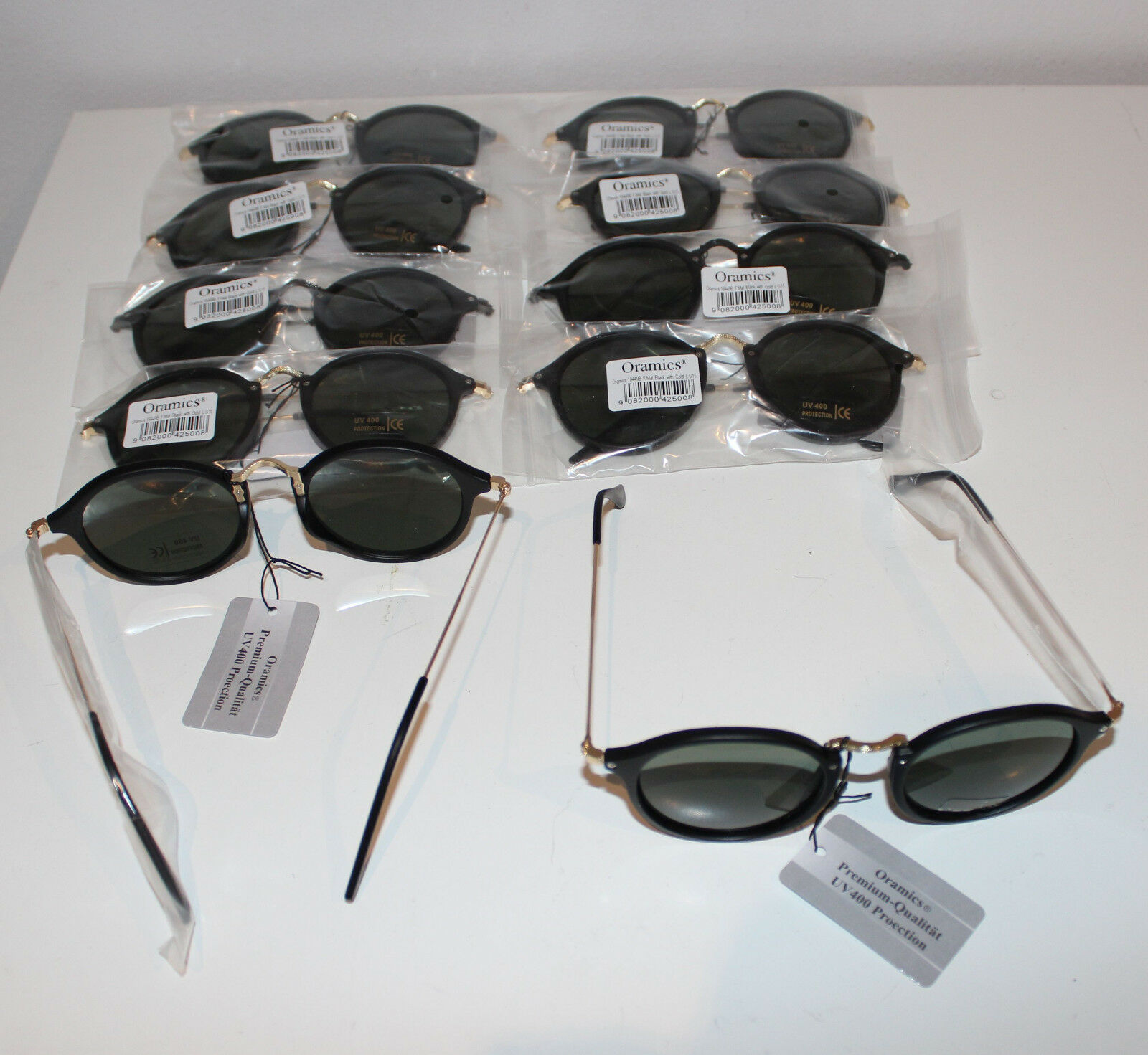 10 x Oramics Sonnenbrille Black wie abgebildet UV 400 Protection NEU