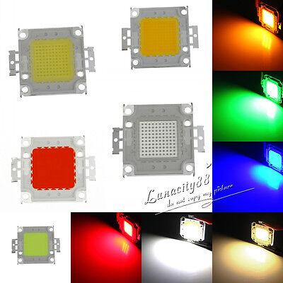 100W SMD RED BLUE AMBER High Power LED Panel Beads Lamp Chips Bulb Flood Light