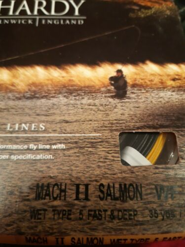 HARDY ALNWICK FLY LINES WF9 MACH II SALMON WET TYPE 5 FAST /& DEEP