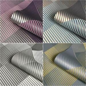 Belgravia Decor Hoxton Suede Effect Geometric Grey Yellow Metallic Wallpaper