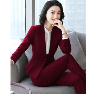 2018 Elegant Women Blazers Suits Tshirt Coat Pant Set Official Dress