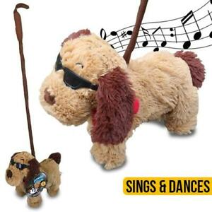 Dancing-Boppin-Beagle-Singing-034-I-FEEL-GOOD-034-walk-on-lead-Soft-Plush-Toy-kids-Fun