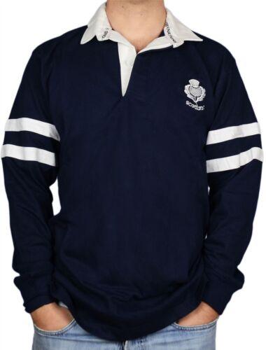 shirt en strepen rugby 2 mouwen Schots Large Heren lange distels Navy gnZBSERxqw