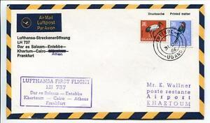 Objectif Ffc 1966 Lufthansa Primo Volo Lh 737 - Dar El Salaam Entebbe Khartum Francoforte Attrayant Et Durable