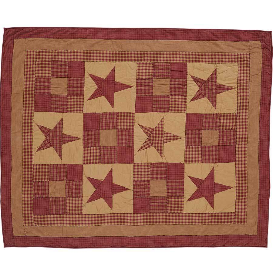 Ninepatch Star Quilted Throw, 50x60 VHC Brands