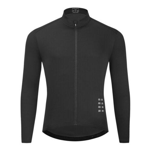 Mens Cycling Jersey Long Sleeve Cycle Shirt Top For Bike Racing Riding Hiking