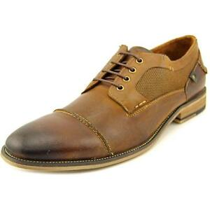 49ab3a652cb Steve Madden Men s Jagwar Leather Fashion Oxford Shoe Shoes Tan Brown Size  11
