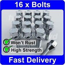 16 x ALLOY WHEEL BOLTS FOR SAAB 9-3 / 9-5 (M12x1.5) LUG NUT SCREWS [H40]