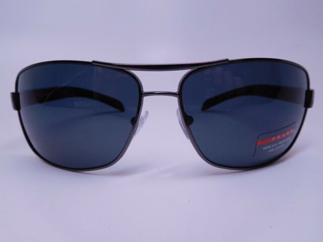 62a1e8361b5e Prada SPS 54I 5AV-5Z1 Gunmetal Plastic 65-14-125 Sunglasses Men s Made