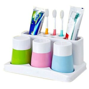 Image Is Loading Toothbrush Holder Toothpaste Cup Stand Storage Rack Box