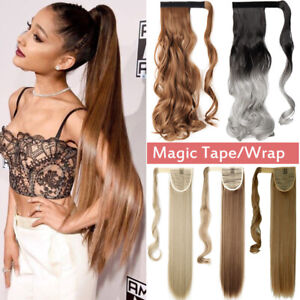 Mega-Long-Clip-in-Ponytail-Hair-Extensions-Extention-Natural-as-Human-Straight