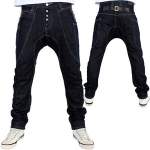 G-King-Hammer-Drop-Crotch-Faux-Leather-Backloop-Jeans