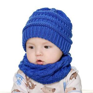 Soft Infant Toddler Kids Girl Boy Baby Winter Warm Hat Cap Scarf Beanie Knit Set