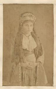 Donna-Circassa-Caucaso-Orient-Turchia-Vintage-Albumina-Ca-1880