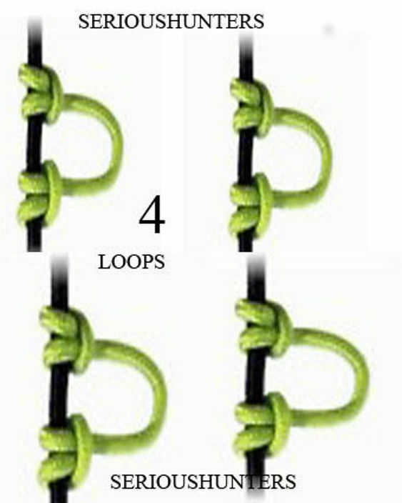 Nouveau 30 (environ in (environ 30 76.20 cm) Vert Bow String pré découpé en 4 Libération Nock Boucle D Nocking composé 209b2b