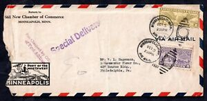1933-USA-Airmail-Special-Delivery-cover-amp-Minneapolis-Cancel-WS10713