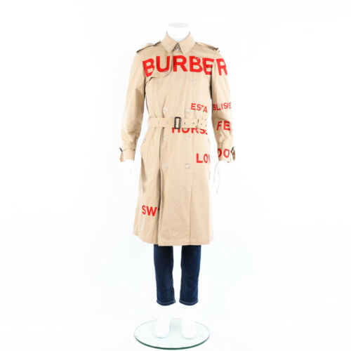 Burberry Trench Coat Beige Horseferry Print Men's