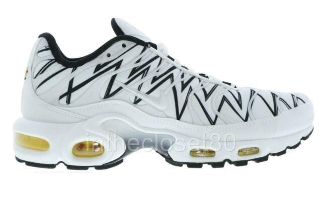 Nike Air Max Plus TN Tuned 1 La Requin Shoes White Black Size Mens 4 Womans 5.5