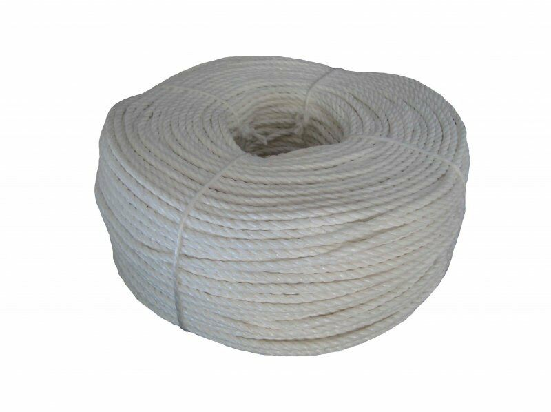 6MM X 90M TRADE COILS EVERLASTO WHITE POLYPROPYLENE POLY ROPE - CHOOSE No. COILS