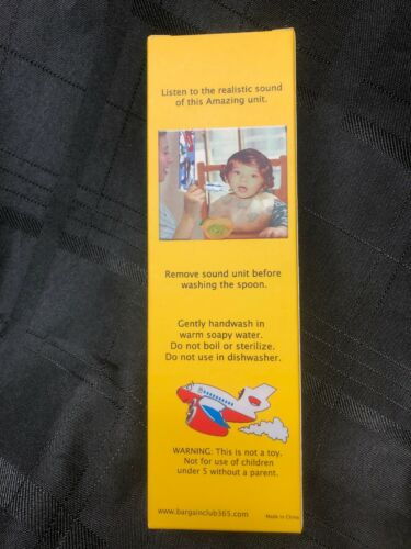 Sound Spoon Airplane for Baby Toddler Makes Plane Noise