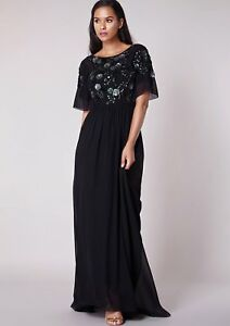 Uk Maxi Virgos partito da 6 Sale 8 14 12 10 sposa Abito Lounge wRHq0WRB