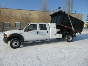 2006 FORD F550 DUMP TRUCK ONLY 83500 KM